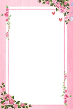 Romantic Pink Background Floral Background Line Flower Background Images, Watercolor Flower Background, Frame Background, Flower Backgrounds, Floral Watercolor, Romantic Backgrounds, Pink Floral Background, Background Remover, Frame Border Design