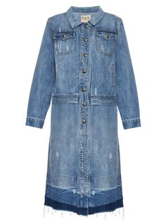 Distressed denim coat | Sea | MATCHESFASHION.COM US