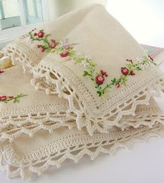 Beautiful embroidery and crochet edging
