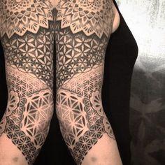 23 Fine Geometric Dotwork Tattoos By Akke