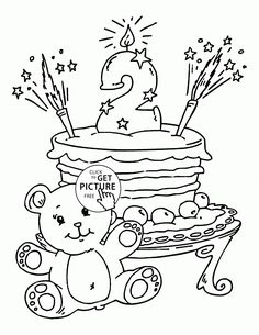happy birthday coloring pages with balloons for