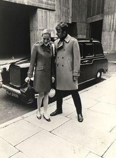 Vintage Burberry Pea coats