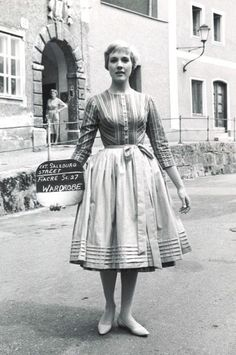"""You can have anything you want in life if you dress for it,"" advised costume designer Edith Head, who styled and befriended many stars, including Julie Andrews. Modern-day starlets may wish to take note: rather than bare flesh, as governess Maria in The Sound of Music (1965), amongst several costume changes, Andrews wore this striped collarless pinafore dress and a crisp half-apron, both sourced from Western Costume, to capture Captain Von Trapp's heart."