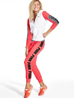 Gym Pant $49.95 in Neon Red- PINK - Victoria's Secret