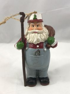 Tree Farmer Santa Claus Christmas Tree Ornament Collectible    Collectibles, Holiday & Seasonal, Christmas: Current (1991-Now)   eBay!