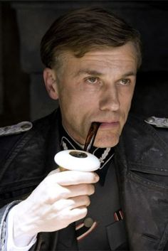 Christoph Waltz as colonel Hans Landa. time to kill some gnatzies! Hans Landa, Christoph Waltz, Brad Pitt, Khaki Shirt Dress, Inglorious Bastards, Death Proof, Jackie Brown, Django Unchained, Non Plus Ultra