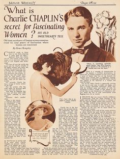 1923 Interesting little story about the love triangle of Charlie Chaplin, Pola Negri and Claire Windsor. Charlie was a player.