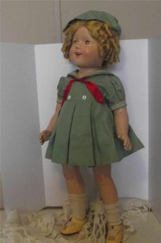 "25"" Tall Composition Shirley Temple Doll Original Clothes and Mohair ..."