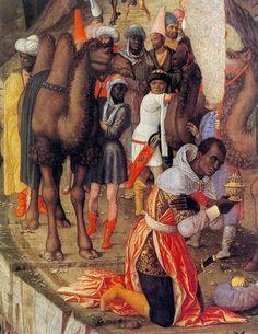 Andrea Mantegna. The Adoration of the Magi (detail) 1460-64 Tempera on wood, 76 x 77 cm Galleria degli Uffizi, Florence