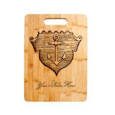 Bespoke Wood Bamboo Cutting Board Apple-Shaped Engraved Personalised Monogrammed