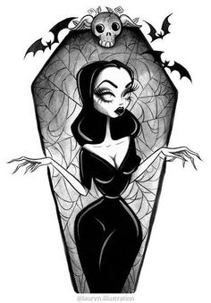 Vampira в 2019 г. tattoo ideas horror art, art и gothic draw Tim Burton Kunst, Tim Burton Art, Tim Burton Drawings, Halloween Drawings, Halloween Art, Halloween 2019, Arte Horror, Horror Art, Dark Fantasy