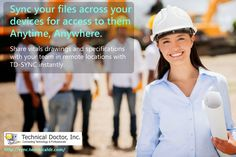 Syncy your files across your devices for access to them anytime and anywhere. ► http://sync.technicaldr.com