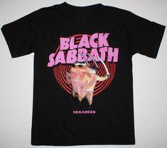Black Sabbath - Paranoid T-shirt Ozzy Osbourne, Heavy Metal, Design Your T Shirt, Shirt Designs, Black Sabbath Shirt, T Shirt Noir, Cool Hoodies, Tee Shirts, Shirt Men