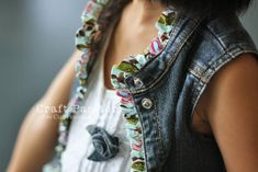 Recycle Tutorial | Denim Vest | Free Pattern & Tutorial at CraftPassion.com