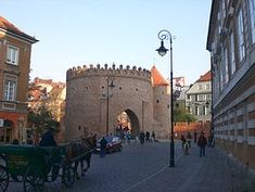 Barbakane Warschau Street View, Warsaw, Old Town, Photo Illustration