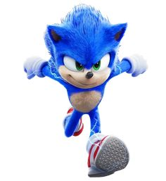 Full body cut of Sonic in the new poster Hedgehog Art, Sonic The Hedgehog, Hedgehog Movie, Sonic Mania, Sonic 3, Sonic Fan Art, Hedgehog Birthday, Sonic Birthday, Sonic The Movie