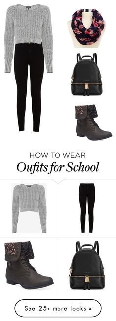 """School day"" by fashion-lover411 on Polyvore featuring 7 For All Mankind, rag & bone, Charlotte Russe, Wet Seal, Michael Kors, women's clothing, women, female, woman and misses"