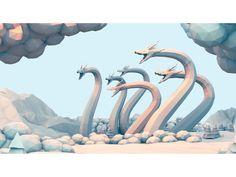 Hydra by Timothy J. Reynolds | 3D | Low Poly