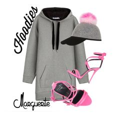 """""""Hoodies and Heels"""" by margueritela ❤ liked on Polyvore featuring T By Alexander Wang, Charlotte Simone, Giuseppe Zanotti, women's clothing, women's fashion, women, female, woman, misses and juniors"""