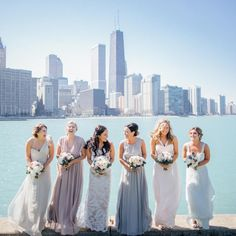 23 Bridesmaid Squads Whose Fashion Game Is On Point Blush Pink Bridesmaid Dresses, Beautiful Bridesmaid Dresses, Bridesmaid Robes, Wedding Dresses, Bridesmaids, Affordable Wedding Venues, Fashion Games, Wedding Bells, Wedding Styles
