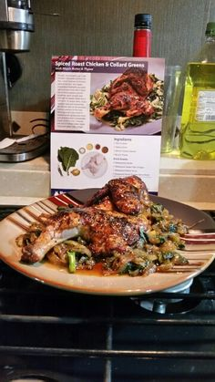 Spiced Roast Chicken & Collard Greens with Maple Butter & Thyme