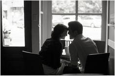 Engaged, coffee shop engagement Sam and Stephanie   Davidson Engagement Photographer   Samantha Laffoon Photography