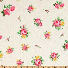 Lecien Flower Sugar Tossed Floral Cream-