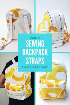 Tutorial for sewing backpack straps that turn your backpack into a crossover bag. The technique welcome the use of many materials, not just fabric.
