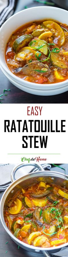 Easy Ratatouille Stew - If you love Ratatouille, you will fall in love with this easy ratatouille, prepared like a stew.