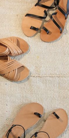 Greek Leather Sandals (Slip, Slide & Buckle Styles) | R1,599.00 | www.thestorer.co Greek Sandals, Accessories Shop, Leather Sandals, Fashion Shoes, Art Pieces, Artisan, Footwear, Slip On, Style