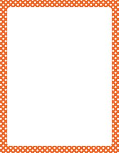 orange and white polka dot border