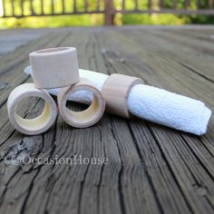 Sale (20) Mini Wooden Napkin Rings, Wood Rings, Wedding Napkin Rings: Nr