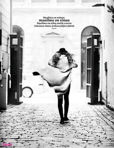 Decor poster from Demi 10/2014 Poster lyrics: Haloo Helsinki - Maailma on tehty meitä varten