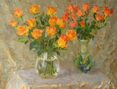 Boris Litovchenko (b.1938) —  Roses  (730x750)