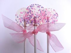 Pink and Purple Favors, Lollipops, Wedding Favors, Hard Candy Lollipops, Candy, Lollipops, Sweet Caroline Confections-SIX LOLLIPOPS wedding favors, purpl favor, favor lollipop, candi lollipop