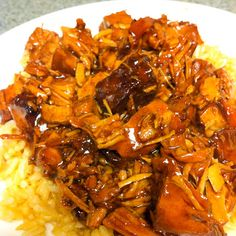 Have this bourbon chicken in the crockpot right now. Smells great. I doubled the recipe for the sauce for 4 chicken breasts.