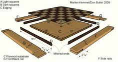 Chessboard Dimensions   Chessboard Plan—Our Gift to You - WOOD Community
