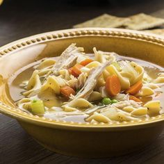 For a delicious day-after-Thanksgiving meal, put leftover turkey to work in this homemade slow cooker soup. McCormick® seasonings, including thyme, garlic powder and bay leaf, combine with traditional ingredients like egg noodles and carrots for the ultimate comfort meal.