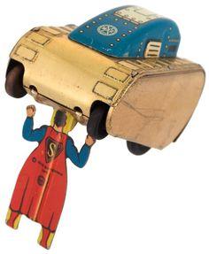 hakes 1940 Marx superman tank tin toy