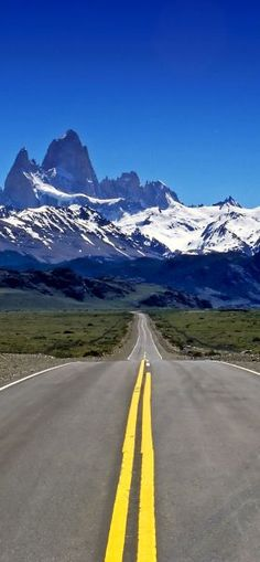 Fitz Roy straight ahead !   23 Roads you Have to Drive in Your Lifetime