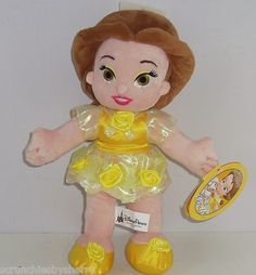 Click to view larger image and other views  Have one to sell? Sell it yourself Disney Parks Princess Little Belle Plush Doll Toy Fairy Tales World Disneyland