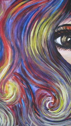 Tammy:  Original acrylic on canvas.  Part of my series of Hair Salon Art.