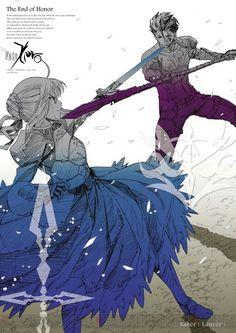 Fate/Zero || Saber || Artoria Pendragon || Lancer || Diarmuid