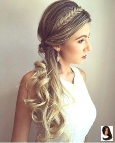 If you are looking for formal hairstyles for long hair then we have collected best formal hairstyles for you. and if you have long hair then you can easily try these formal hairstyles. Formal Hairstyles For Long Hair, Half Braided Hairstyles, Side Hairstyles, Box Braids Hairstyles, Wedding Hairstyles, Hairstyle Ideas, Party Hairstyles, Wedding Hair And Makeup, Bridal Hair