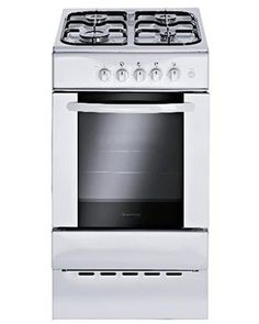 This brand new free standing, gas cooker comes features double ovens and is finished in pure white. 5 year parts, 2 years labour warranty. Features manual controls. Very good value.