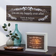 """A Personal Creations Exclusive! Celebrate the love that completes your life with this romantic collection. We personalize it with any 2 names, up to 12 characters each (""""&"""" will always appear between names), and any date. """"You are my happily ever after"""" will always appear."""