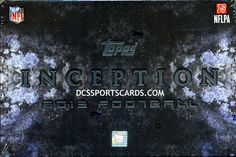 2013 Topps Inception Football Cards Hobby Box - New! $81.95