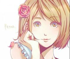 Petra Ral from shingeki no kyojin Loud House Characters, Aot Characters, Art Manga, Manga Anime, Attack On Titan, Levi And Petra, Anime Nerd, Fan Art, Awesome Anime