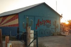 Arizona - This building is on my way home along US 93 - abandoned now due to the economy...