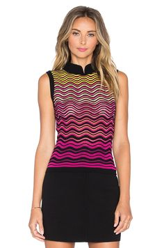 M MISSONI RIPPLE STITCH TANK. #mmissoni #cloth #dress #top #shirt #pant #coat #jecket #jacket #shorts #ski